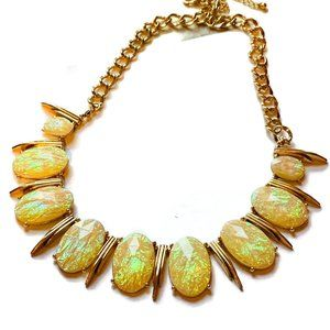 Jewelry - Oval Opalescent Faceted Bead Necklace